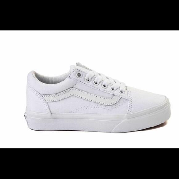 white vans size 10